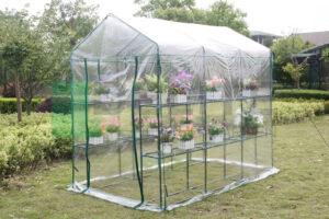 143x214x195cm walk-in greenhouse